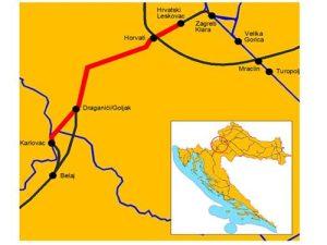 Hrvatski Leskovac-Karlovac karta