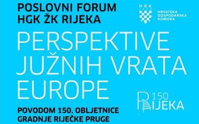 """HŽI na poslovnom forumu """"Perspektive južnih vrata Europe"""""""