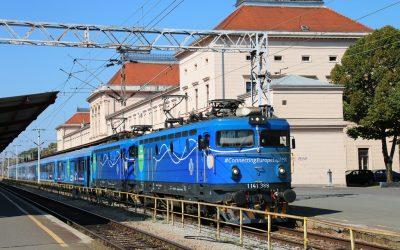 Vlak Connecting Europe Express dočekan u Zagrebu